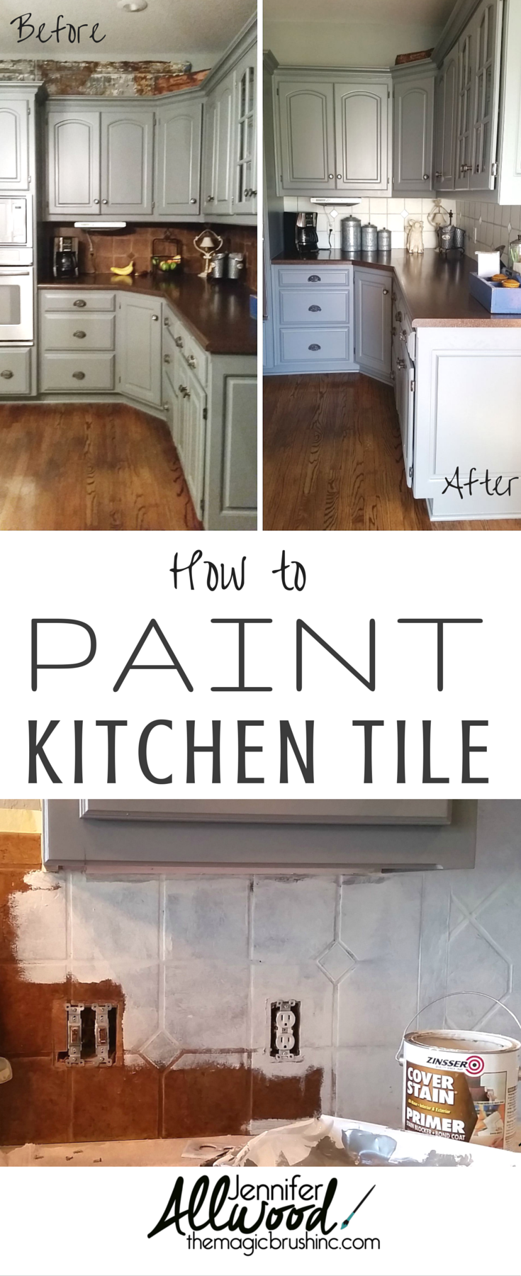 How to paint kitchen tile and grout an easy kitchen update diy how to paint kitchen tile and grout an easy kitchen update dailygadgetfo Images