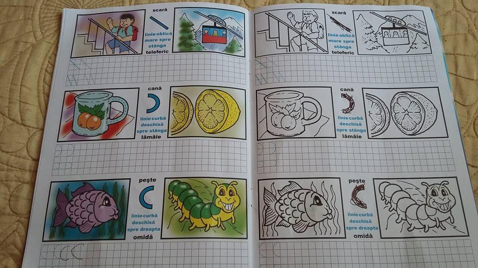 Cifrele- Exercitii grafice-Carte de colorat