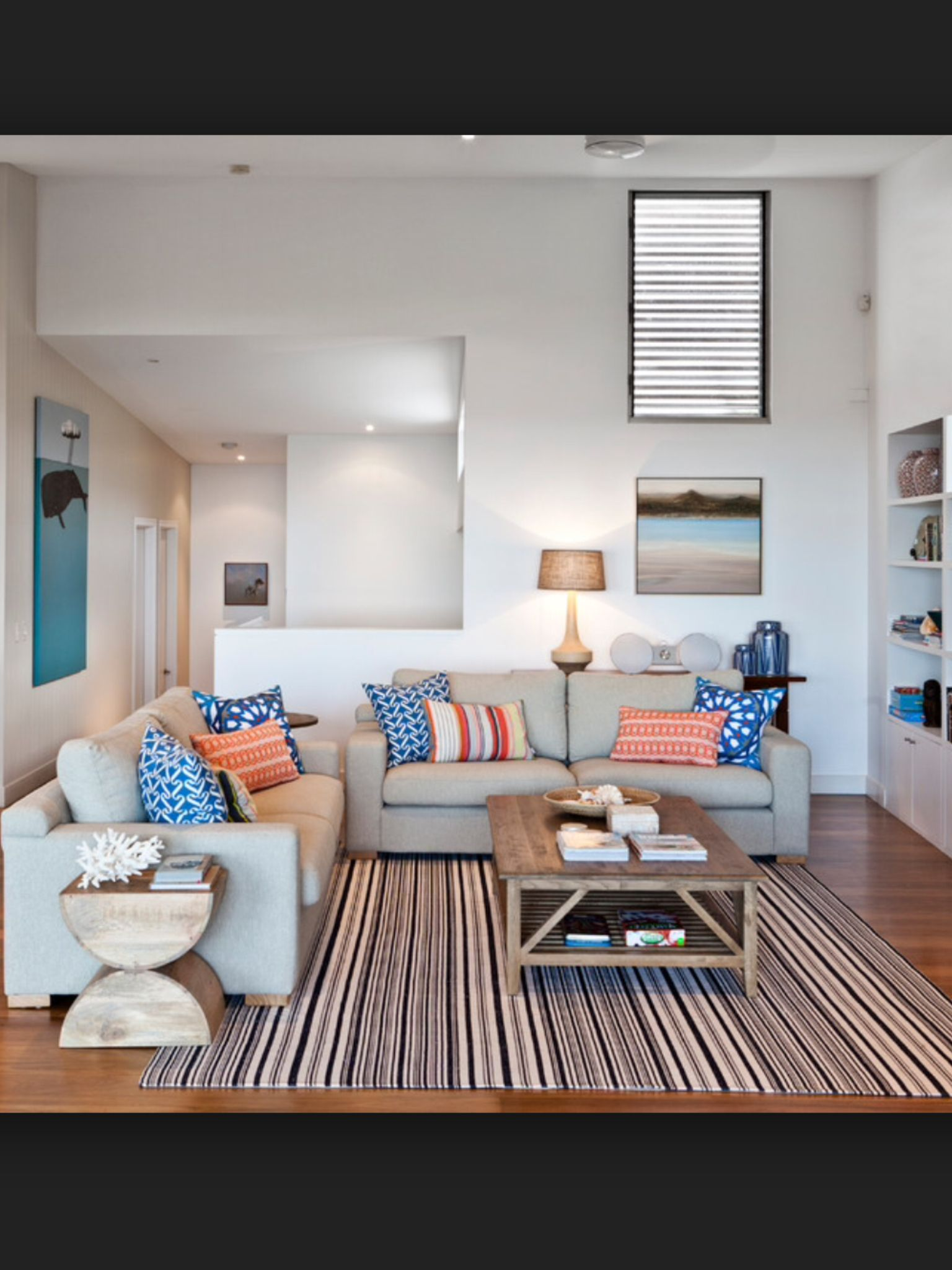 Contemporary Coastal Decor Neutrals And Timber With A Splash Of Colour