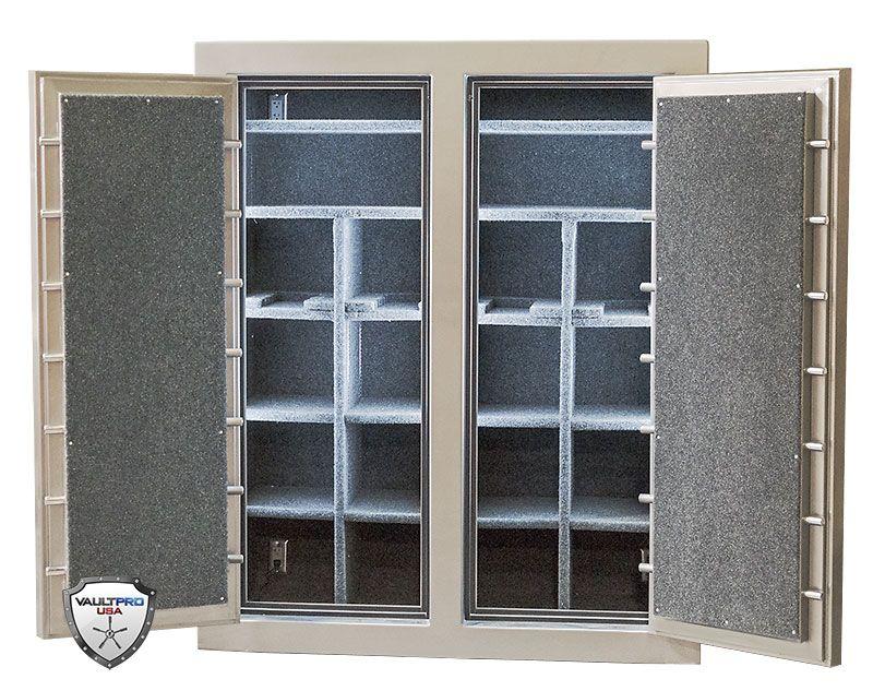 Large Custom Double Door Gun Safe With Interior Lighting