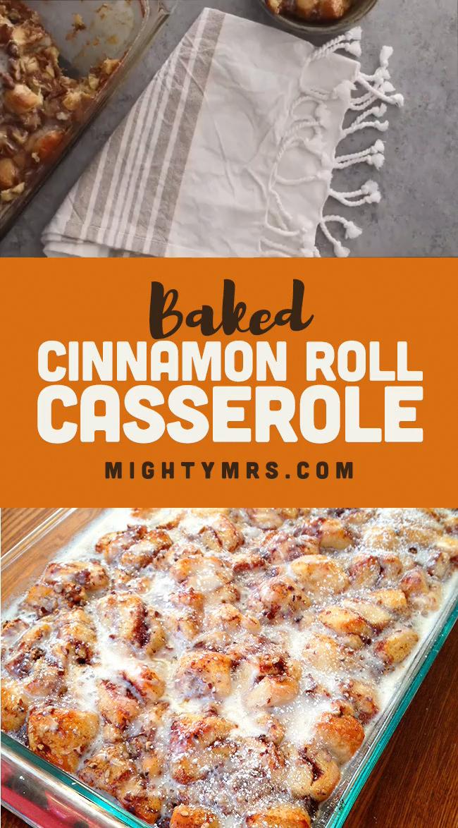 Easy Cinnamon Roll Casserole