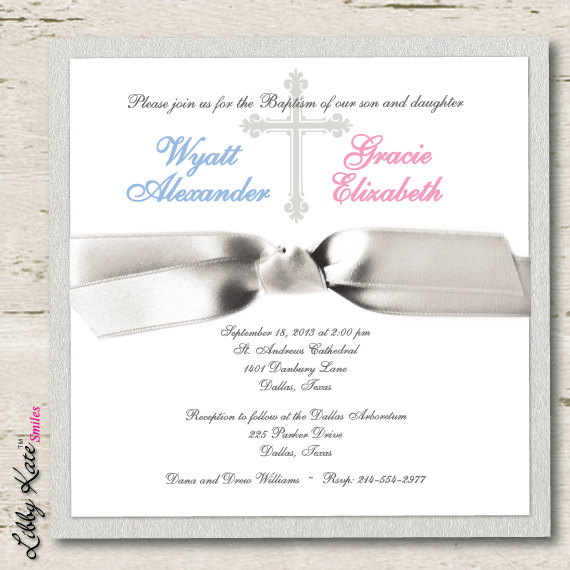 twin baptism invitations selo l ink co