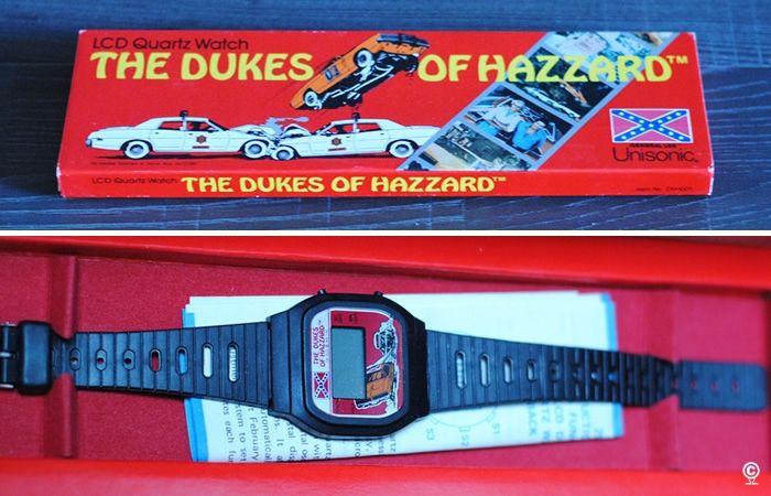 Lcd Quartz Watch The Dukes Of Hazzard Unisonic Vintage Toys