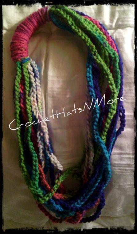 Crochet Scarf Necklace   Proyectos que intentar   Pinterest   Tejido ...