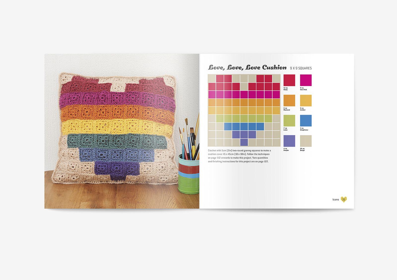 Love Cushion - Pixel Crochet design by Hannah Meur