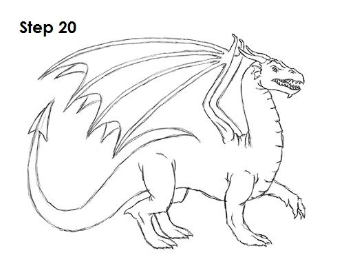 Cool Dragon Drawing at GetDrawings.com | Free for personal ...