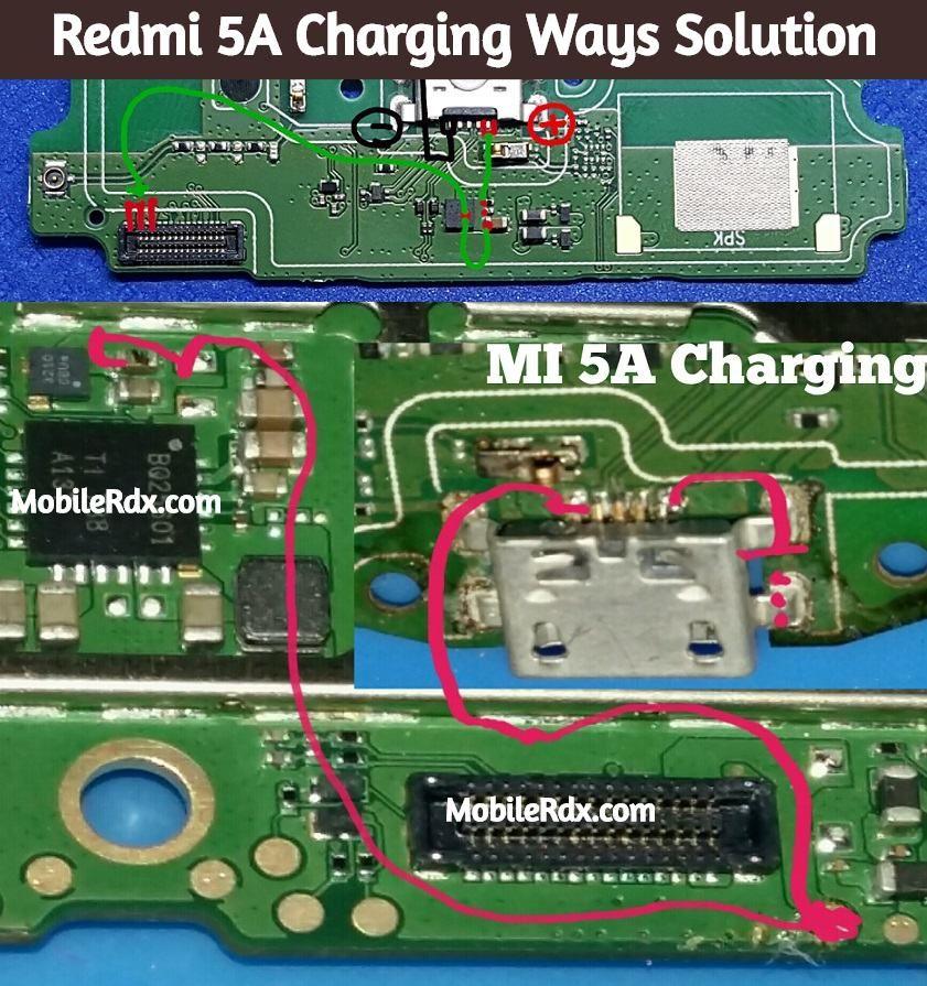 Redmi 5A Charging Ways Solution Repair Not Charging Problem