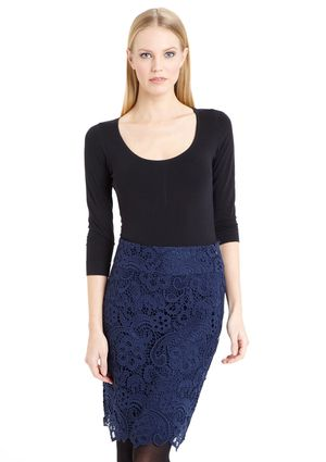 MOON Lace Pencil Skirt