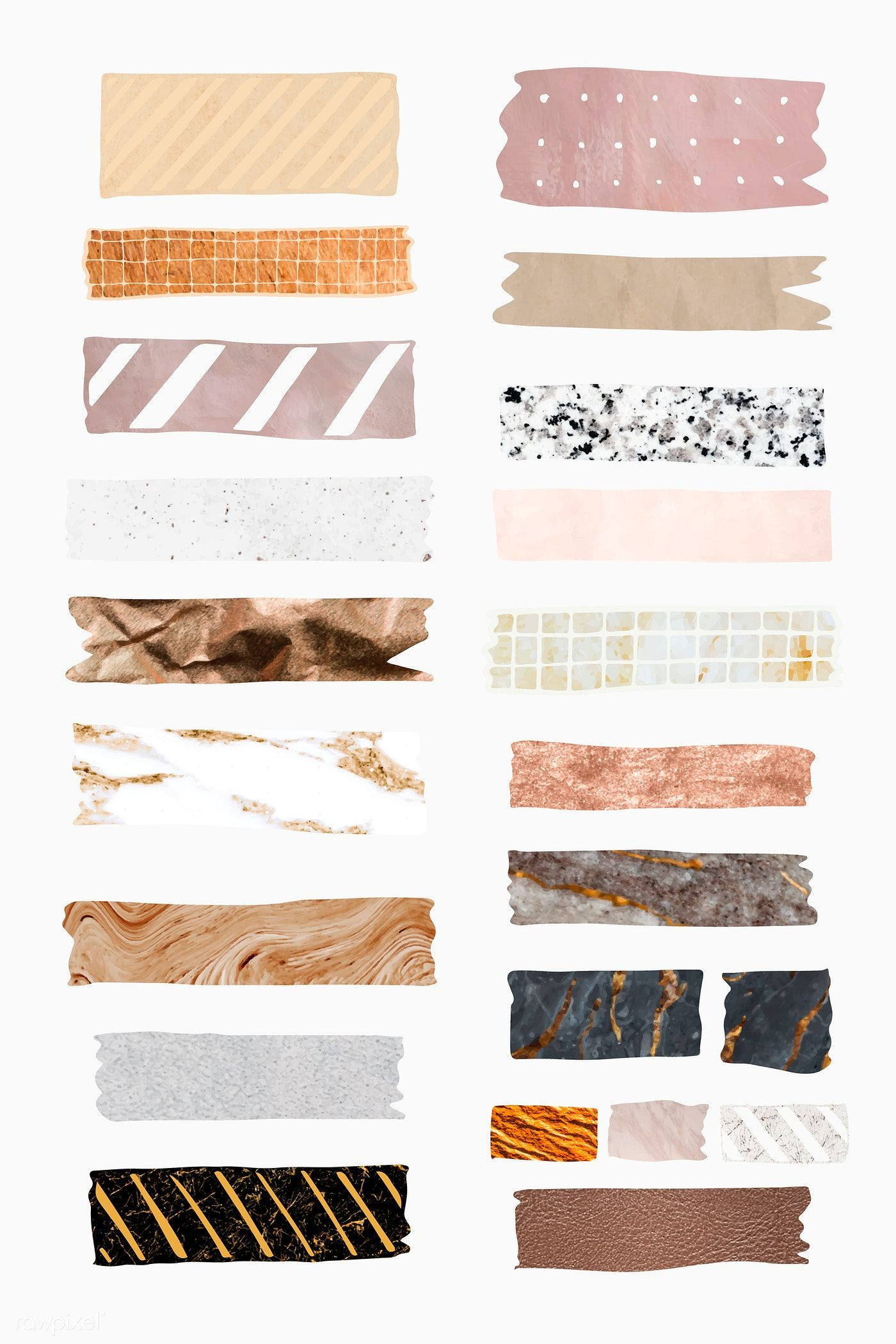 Download premium vector of Collection of washi tap