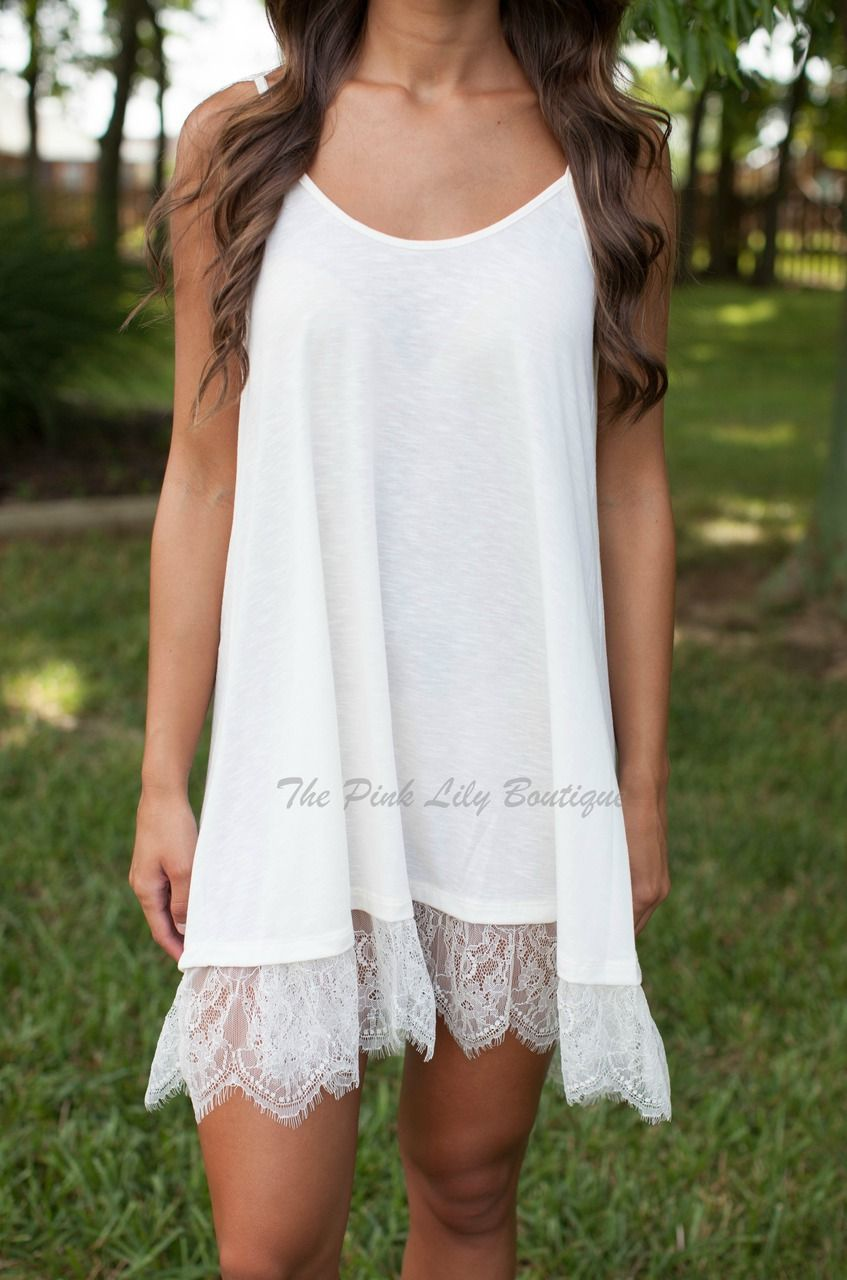 The Pink Lily Boutique - Dress Extender Lace Slip $22.00 (http ...