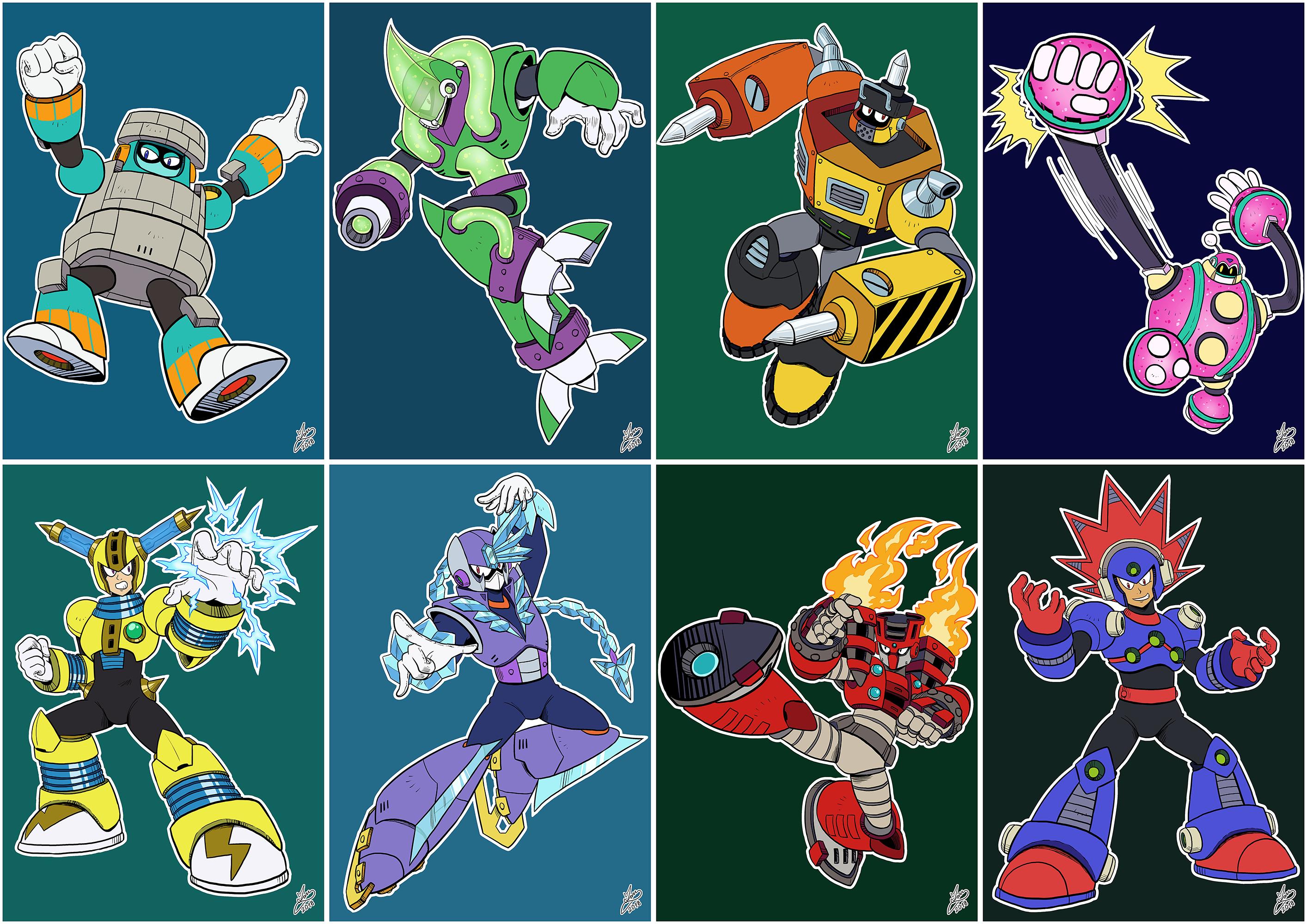 Daily Rockman Rockman 11 Robot Masters By Iandimas On Deviantart In 2020 Mega Man Man Character Robot