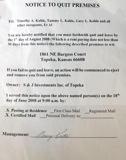 Tenant Eviction notice is retaliation CJOnline - tenant - new sample letter notice vacate flat