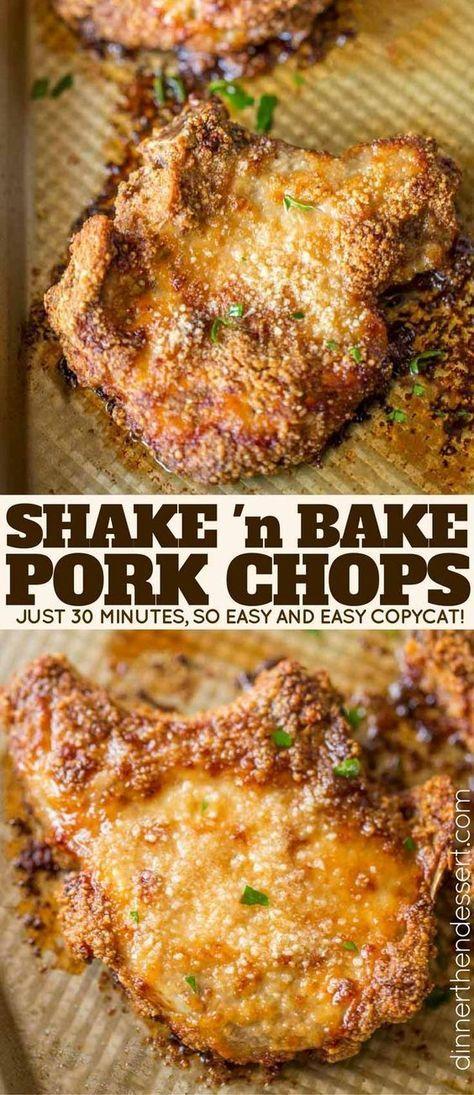 Shake and Bake Pork Chops - Dinner, then Dessert