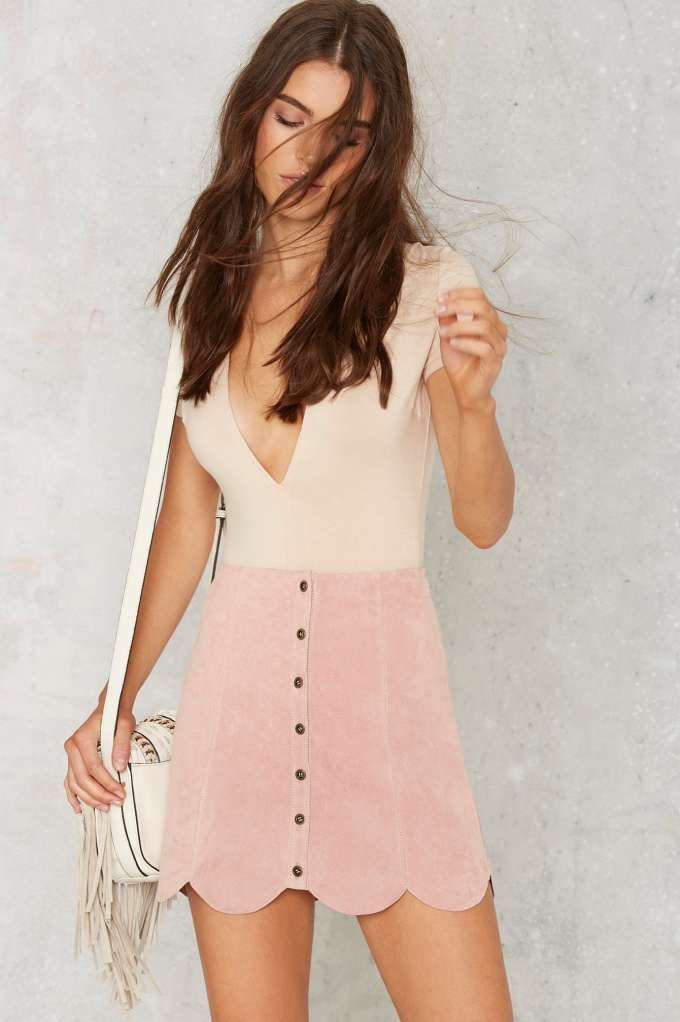 Noah Suede Mini Skirt - Pink | Shop Clothes at Nasty Gal ...