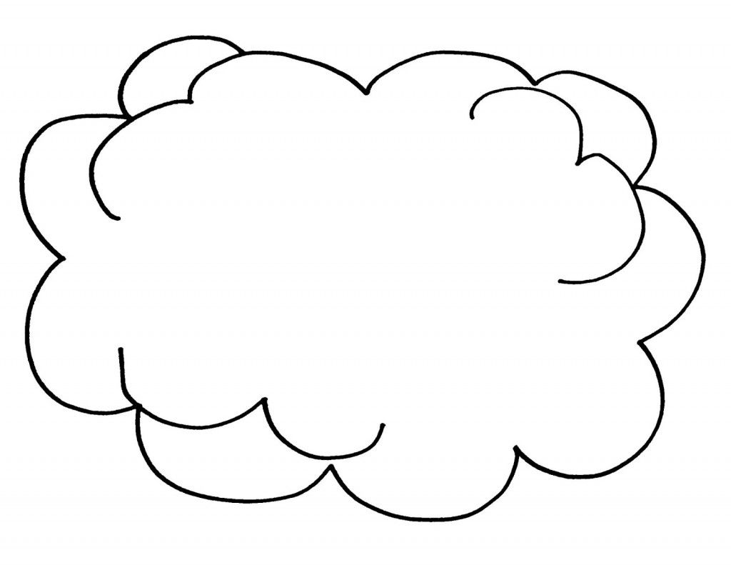 Free Printable Cloud Coloring Pages For Kids Cloud Template