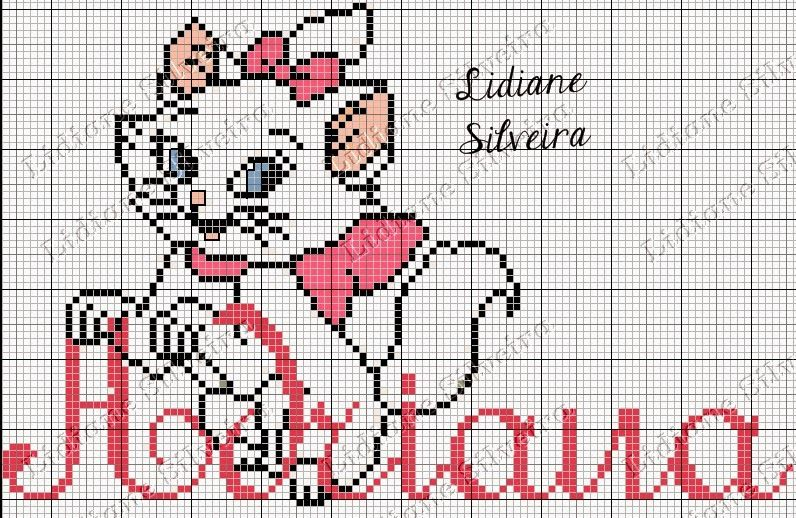 Pinta e Borda (Lidiane Silveira): Marie | Counted cross stitch Names ...