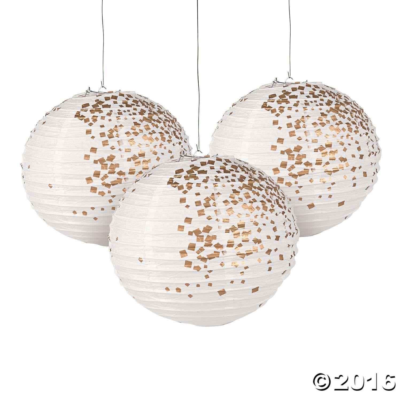 White & Gold Patterned Hanging Paper Lanterns | Pinterest | Gold ...