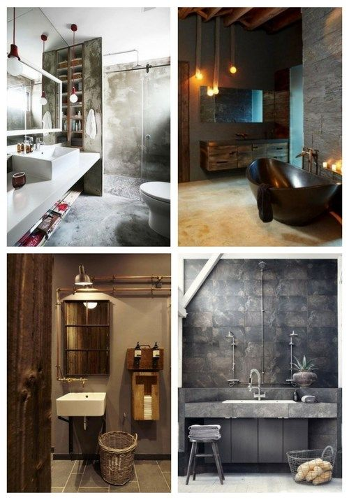 Main Industrial Bathroom Decor Ideas With A Vintage Or Minimal