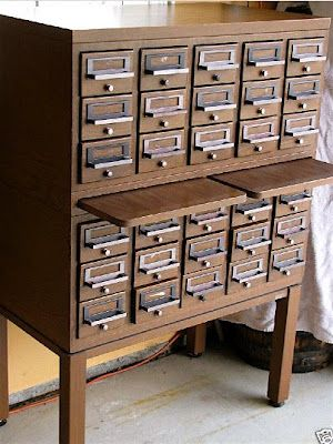 Antique Card Catalog Cabinet, The Perfect Graduation Gift For Victoria!  Zeimis Baysa~keep Your Eyes Open.