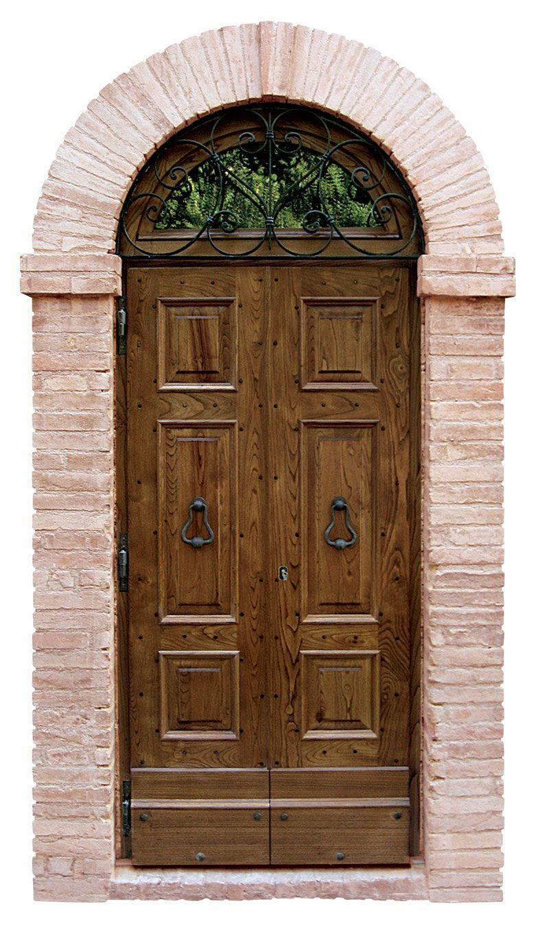 In legno massello di castagno invecchiato completo di - Portoni di casa ...