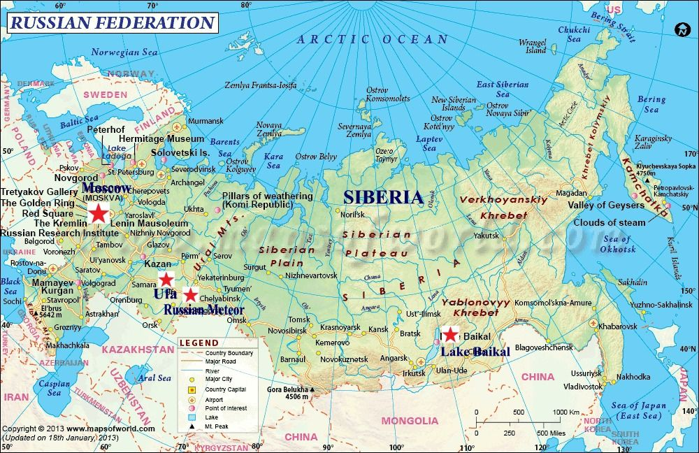 Ural mountains on world map Images | One World