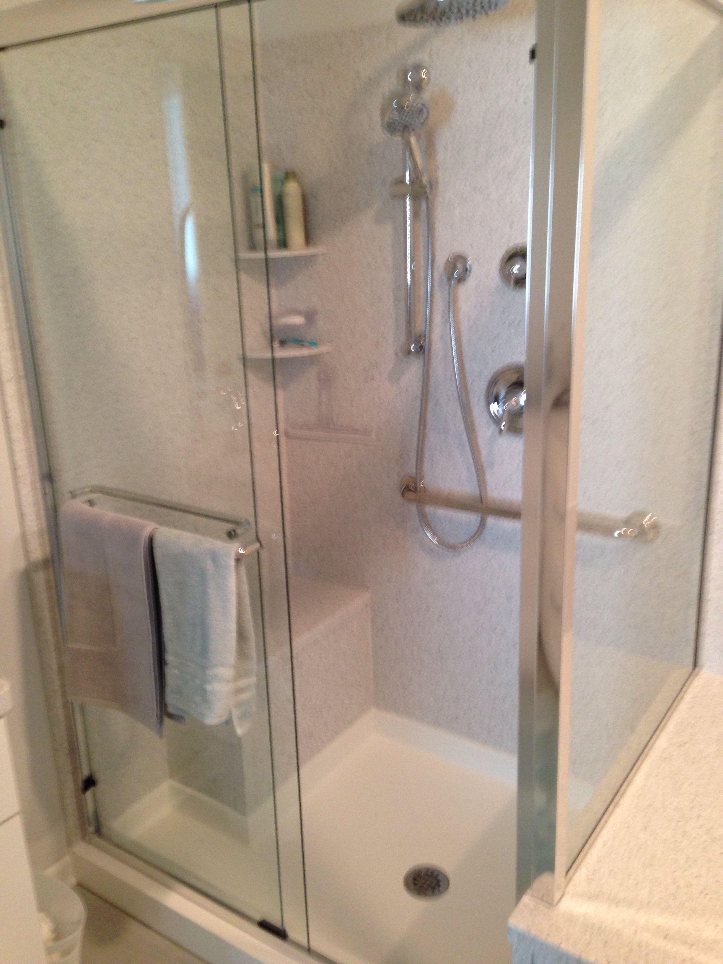A Beautiful Corian Shower Surround With A Custom Corian Shower
