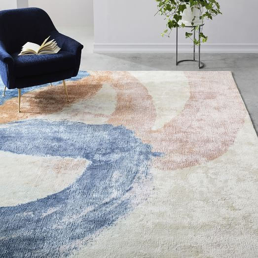 West Elm Sun Kissed Landscape Rug Light Pool In 2019