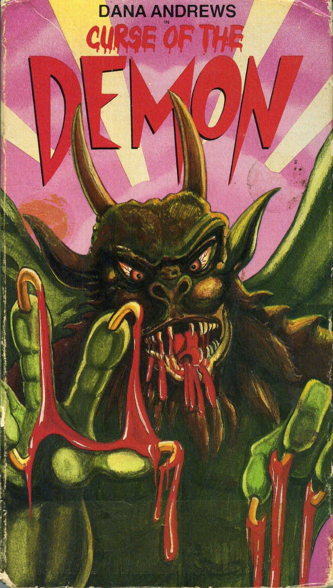Curse of the demon 1957 vhs horror movie posters