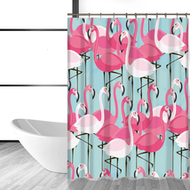 Shower Curtain Cute Pink Flamingo Shower Curtain Includes 12 Hooks