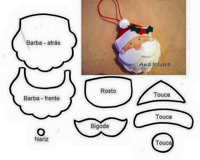 Santa Claus Patrones de Costura e Ideas | Papá noel, De los hombres ...