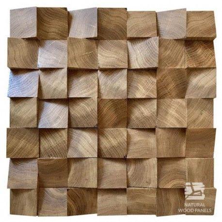 Drewniany Panel Dekoracyjny 3d Kostka Dąb łeba 062 Panele