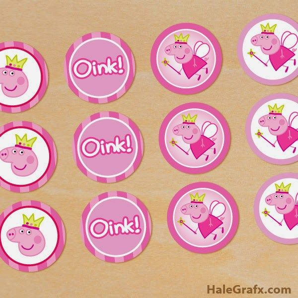 photo regarding Printable Cupcakes Toppers identify free of charge peppa pig cupcake toppers printables peppa birthday
