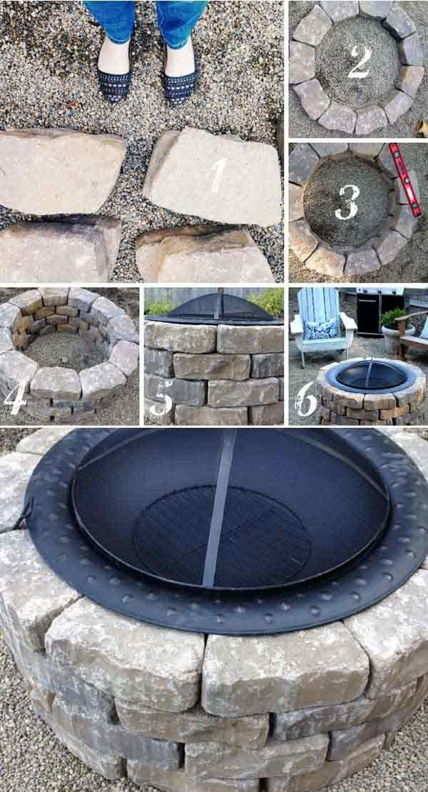 Easy Backyard Fire Pit | How To Make Outdoor Decorations From Scratch by  Pioneer Settler at - 27 Fire Pit Ideas And Designs To Improve Your Backyard