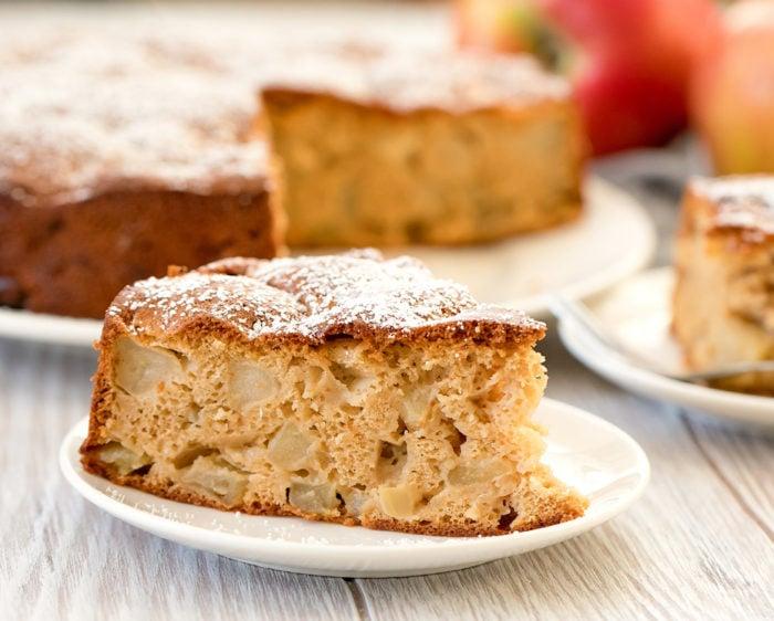 Easy Apple Cake With Just 4 Ingredients Kirbie S Cravings Recipe Easy Apple Cake Vegan Apple Cake Easy Cake Recipes