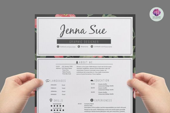 Modern Resume Template By Chic Templates On Creativemarket