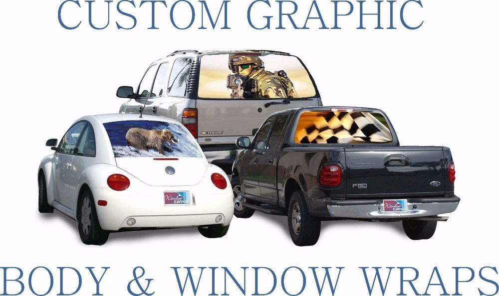 Custom Graphic Window Perf Decals For CAR OR TRUCK  Full Color - Truck rear window decals   how to purchase and get a great value safely