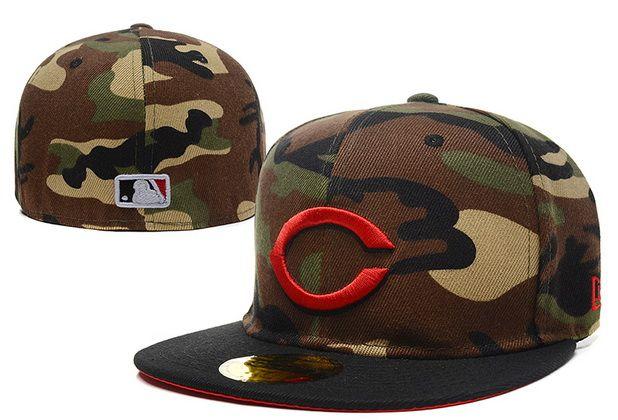 4d83b485db7e2 Cheap Wholesale MLB Cincinnati Reds 59Fifty Hats Retro Classic Pop Caps Camo  for slae at US 8.90  snapbackhats  snapbacks  hiphop  popular  hiphocap ...