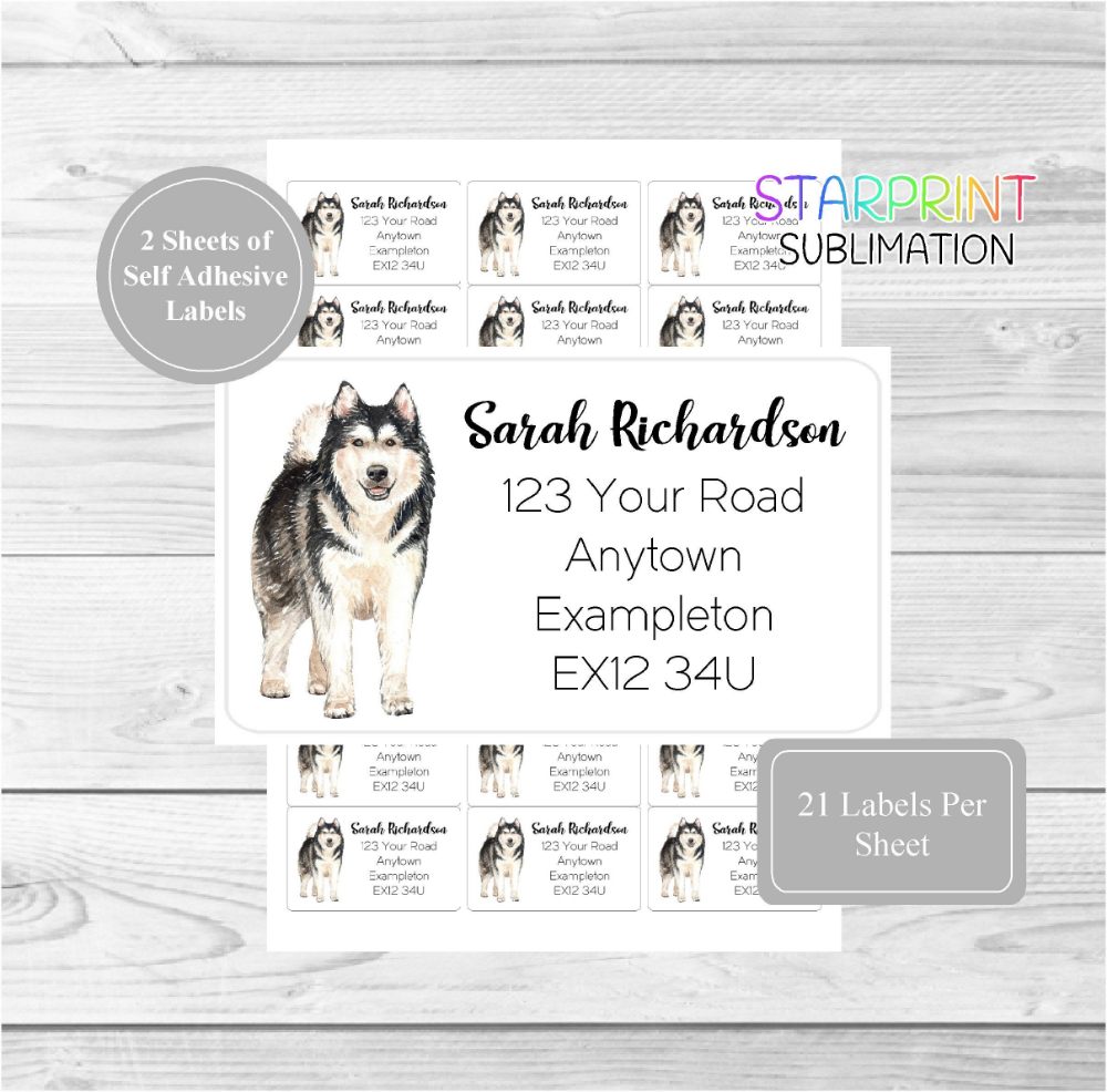 Alaska Return Address Label Custom Stickers