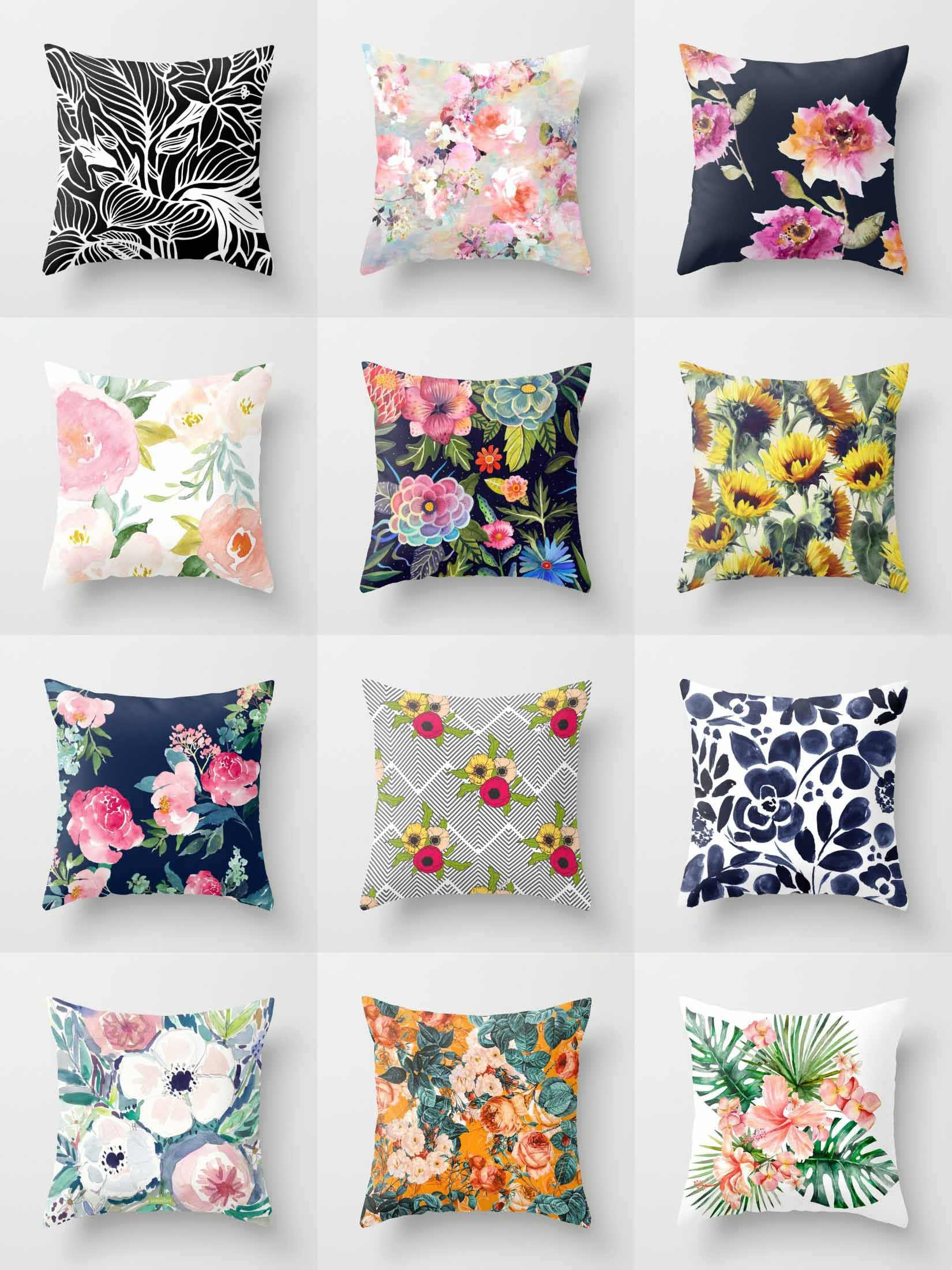 Society6 Floral Throw Pillows - Society6 is home to ...