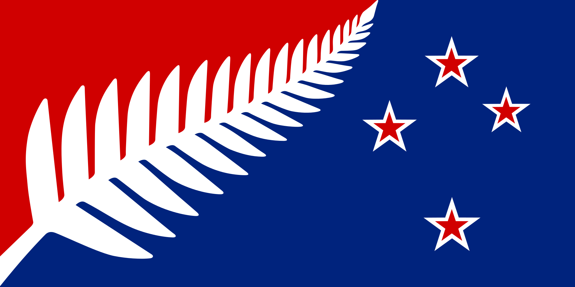 Nz Flag Design Kyle Lockwood Silver Fern Red White And Blue In 2020 New Zealand Flag New Zealand Maori Art