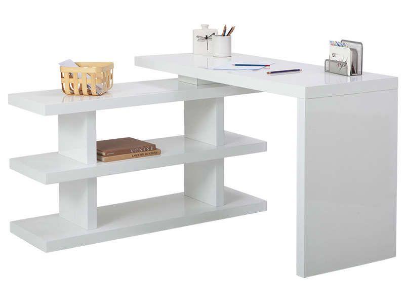 Bureau volta coloris blanc vente de bureau conforama