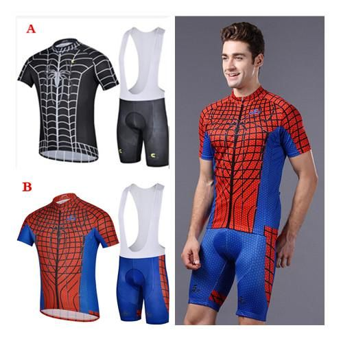 Cycling Jersey Clothes Suits Bike Men Cycling Spiderman Jerseys ...