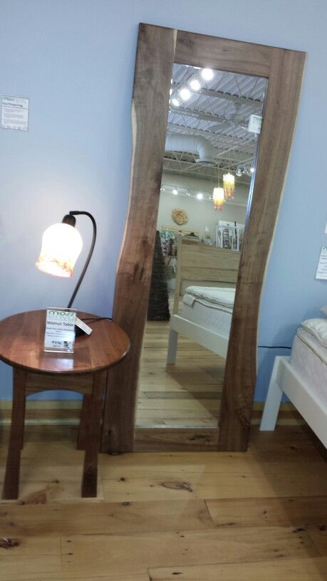 Walnut floor mirror and side table. Made in MN! | Moss Envy ...