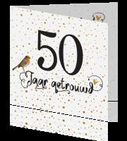 Feestelijke fotokaart Uitnodiging voor 50 jaar getrouwd echtpaar