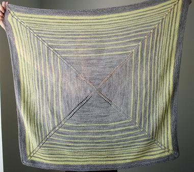 The Yarniad Shadow and Glow Shawl Knitting Pattern + Free Shipping!
