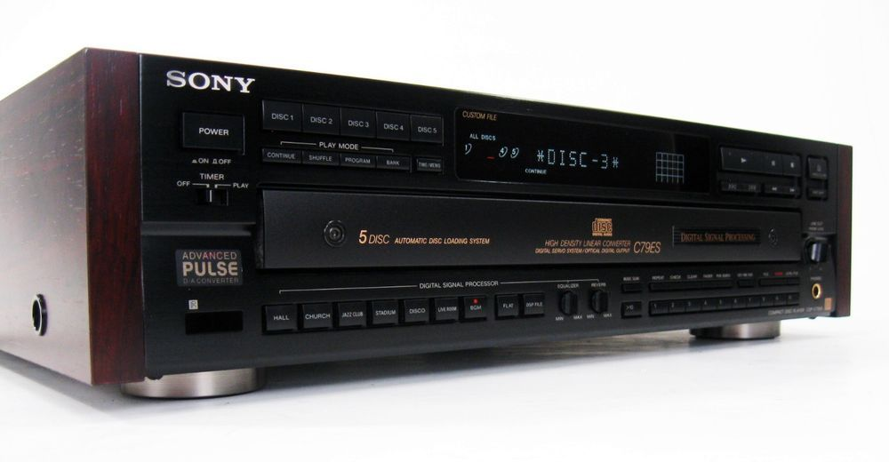 sony cdp c79es elevated standard 5 disc cd changer w manual rh pinterest com JVC CD Changer Cassette JVC CD Changer Cassette