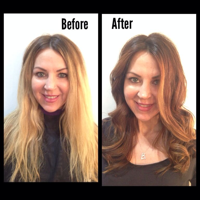 Beautiful Transformation From Blonde To Brunette Ombr 233