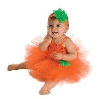 Rubie's Costume Newborn Pumpkin Tutu Dress, Orange, 6-9 Months
