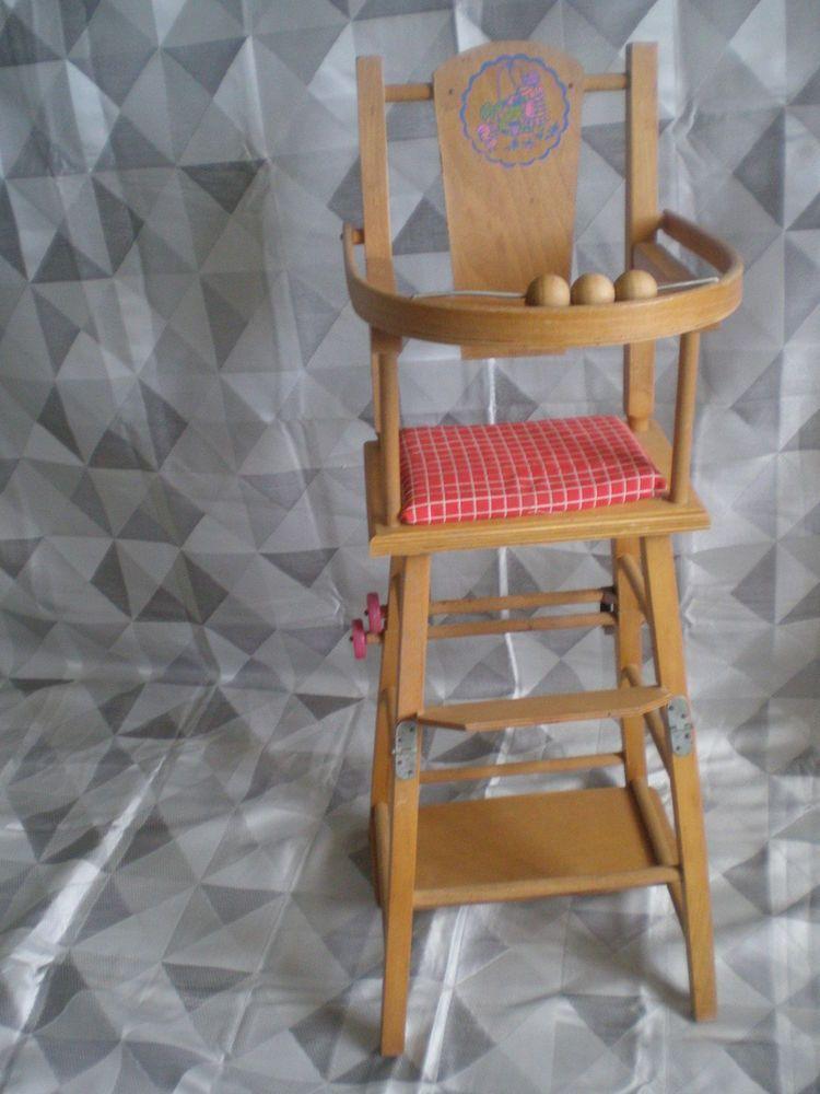 Ancienne Petite Chaise Haute Poupee Poupons En Bois Chaise Haute Poupee Petite Chaise En Bois Chaise Haute