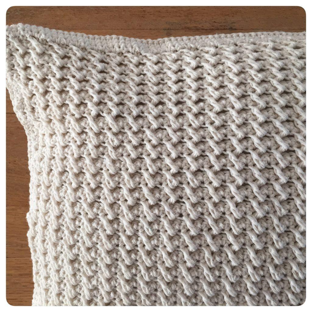 Haak Een Rand Met Vasten Om Je Kussen Heen Haken Crochet